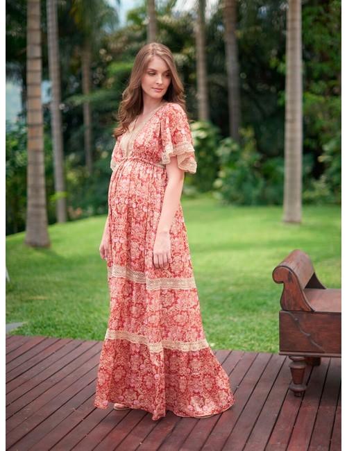 Vestido largo Printed