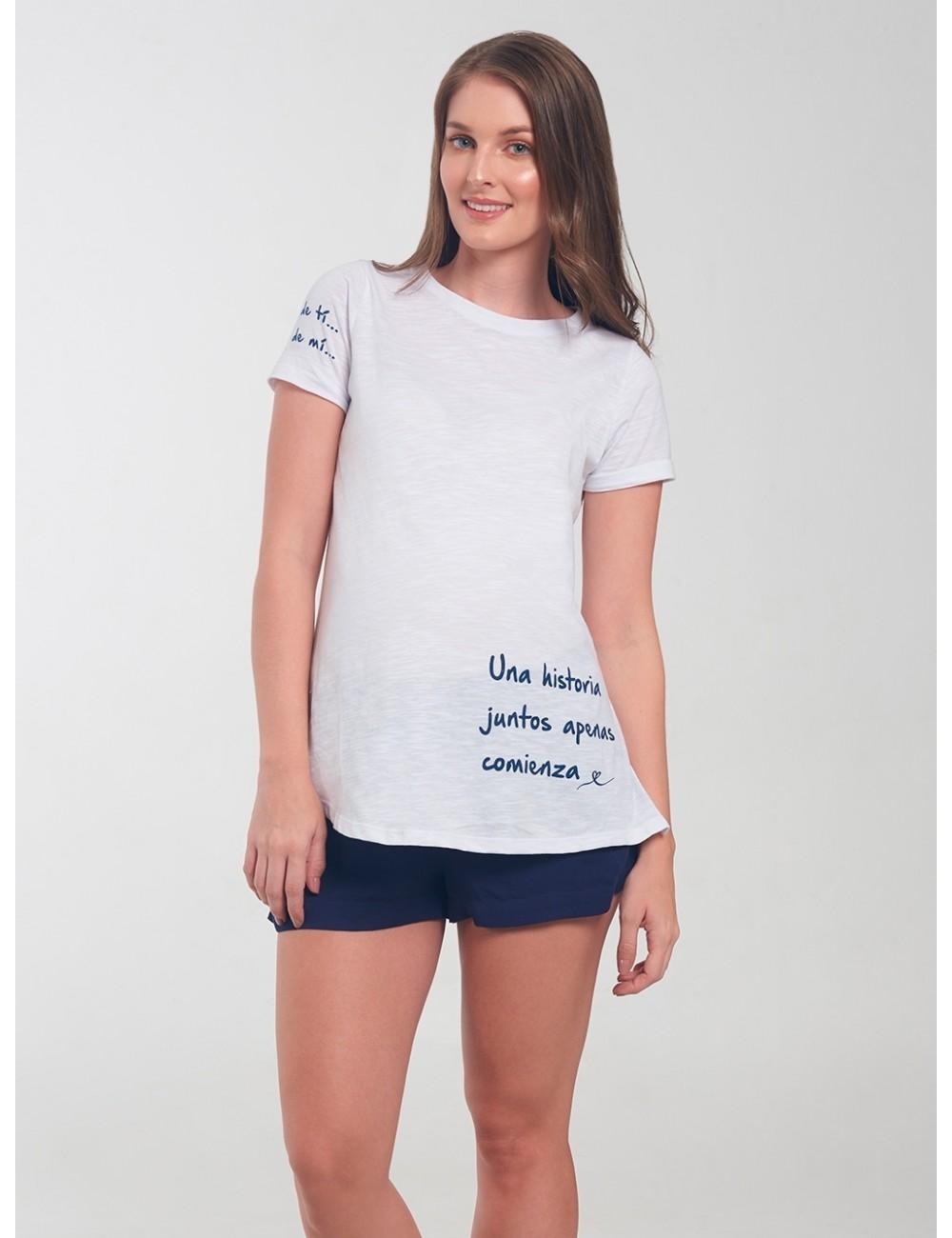 Camiseta una Historia Juntos Apenas Comienza