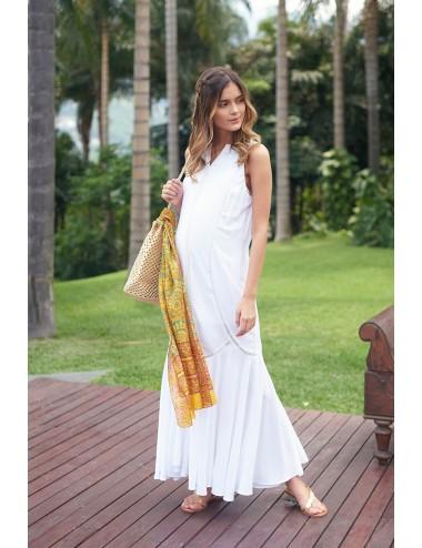 Vestido túnica con cortes Guipur