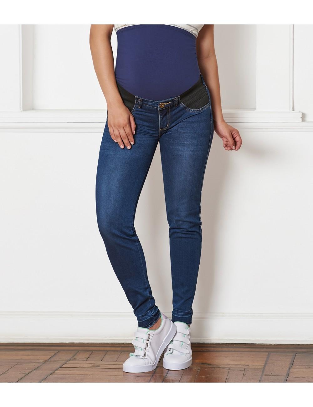 Jean bota tubo resorte laterales